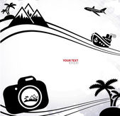 Background with vacation concept elements — Stockvektor