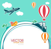 Vacation concept elements — Stock Vector
