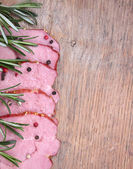 Sirloin of pork with herbs — Stock Photo