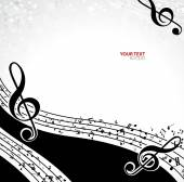 Black and white music background — Stock Vector