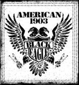 American Eagle Vector Graphic Design — Stock Vector