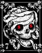 Skull Mummy Poster — Stock Vector