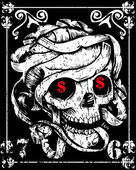 Skull Mummy Poster — ストックベクタ