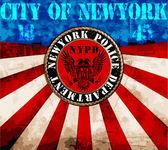 Usa Newyork NYPD poster — Stock Vector