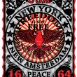 New York Vintage Eagle Poster Man T shirt Graphic Design — Stock Vector #62111117
