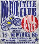 Motorcycle Club Race Poster Man Graphic Vector Design — Stock Vector