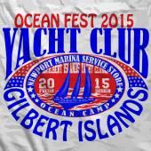 Sail Yacht Club Man T shirt Graphic Vector Design — Vector de stock