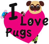 Pug sweet — Stock Vector