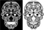Monochrome Skulls — Stock Vector