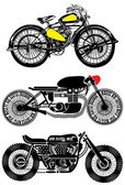 Motorcycle Set Vintage Graphic Design — Stock Vector