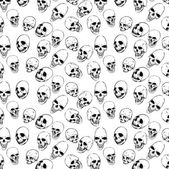 Seamless with skulls — Vettoriale Stock