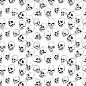 Bezszwowe z czaszki — Wektor stockowy