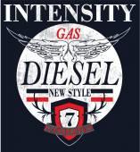 Vintage Gasoline & Motor oil sign — Stock Vector
