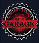 Vintage garage retro signs and labels — Vector de stock