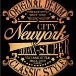 Постер, плакат: New york Vintage Slogan Man T shirt Graphic Vector Design