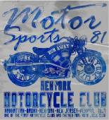 Gráfico de t-shirt vintage da motocicleta — Vetor de Stock