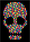 T-shirt Graphics skull vector skull illustration evil skull — Stok Vektör
