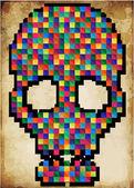 T-shirt Graphics skull vector skull illustration evil skull — Stock Vector
