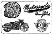 Motorcycle Racing Typography Graphics and Poster. Skull and Old — Stock Vector