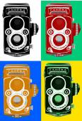 Vintage retro old film camera — Stock Vector