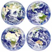 Planet Earth, North and South America, Eurasia, Africa, Australia — Stock Photo
