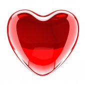 Glazen hart — Stockfoto