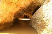 Acantilados de piedra caliza en Costa de Algarve — Foto de Stock