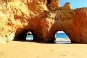 Kalksten bågar - Algarve — Stockfoto