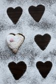 Heart Shaped Cookie covered with Icing — Stockfoto
