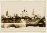 Suzdal. An old postcard. — Stock Photo