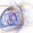 Abstract fractal design Square on white. Pencil drawing. — Stock Photo #78585720