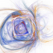 Abstract fractal design Square on white. Pencil drawing. — Stock Photo #78587732