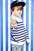Cheeky boy gesturing — Stock Photo