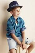 Boy wearing checked shirt — Stock Photo