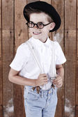 Boy wearing spectacles — Stock Photo
