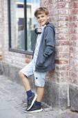Boy wearing headphones — Stock Photo