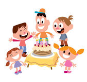 Kids birthday party — Stock Vector