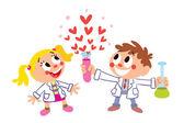 Chemistry of love — Stock Vector