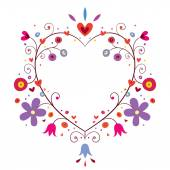 Heart frame with flowers — Stock Vector