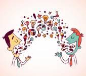 Conversation between two businessmen — Διανυσματικό Αρχείο