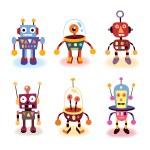 Cartoon robots set — Stock Vector #58639341