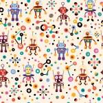 Cute robots pattern — Stock Vector #58639463