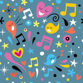 Fun music seamless pattern — Stock Vector