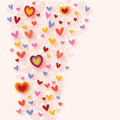 Colorful hearts background — Stock vektor