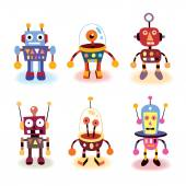 Cartoon robots set — Stock Vector