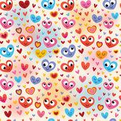 Cute hearts pattern — Stock Vector