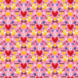 Hearts & birds seamless pattern — Stock Vector #58657405