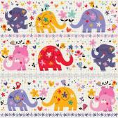 Cute elephants seamless pattern — Stock Vector