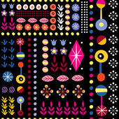 Abstract art floral pattern — Stock Vector