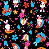 Love bunnies pattern — Stock Vector
